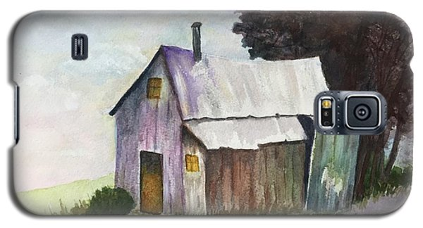 Colorful Weathered Barn Galaxy S5 Case by Lucia Grilletto