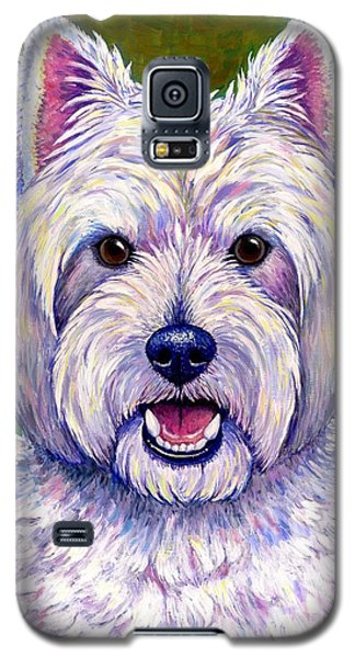 Colorful West Highland White Terrier Dog Galaxy S5 Case