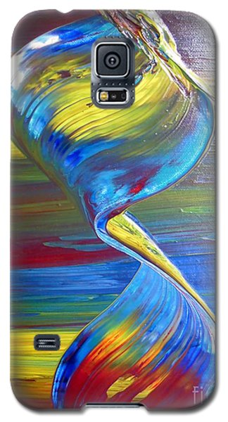 Galaxy S5 Case featuring the digital art Colors By Nico Bielow by Nico Bielow