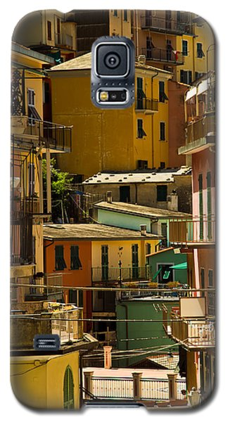 Colors Of Manarola Italy Galaxy S5 Case by Roger Mullenhour