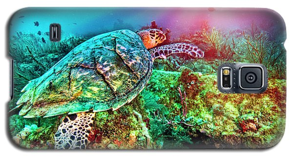Galaxy S5 Case featuring the photograph Colors Of The Sea In Lights by Debra and Dave Vanderlaan