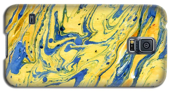 Galaxy S5 Case featuring the painting Colors On The Lake by Menega Sabidussi