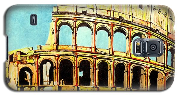 Galaxy S5 Case featuring the painting Colosseo by Daniel Janda