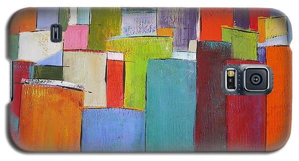 Galaxy S5 Case featuring the painting Colour Block7 by Chris Hobel
