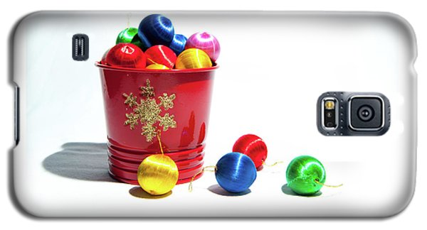 Coloured Baubles In A Pot Galaxy S5 Case