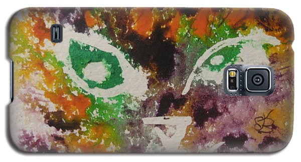 Colourful Cat Face Galaxy S5 Case