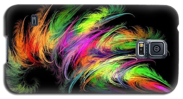 Colourful Feather Galaxy S5 Case by Klara Acel