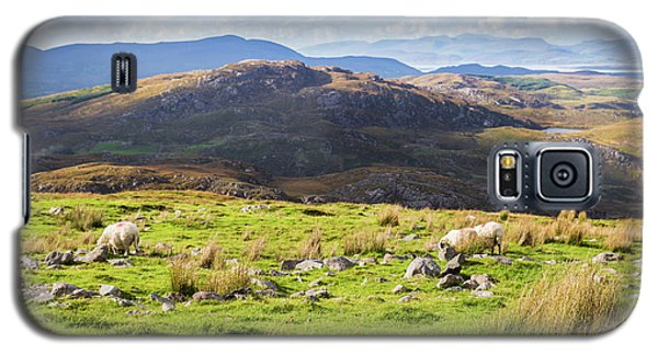 Galaxy S5 Case featuring the photograph Colourful Undulating Irish Landscape In Kerry With Grazing Sheep by Semmick Photo