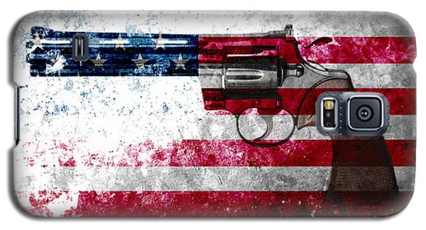 Colt Python 357 Mag On American Flag Galaxy S5 Case