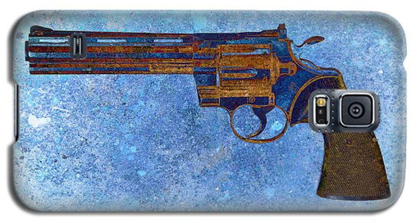 Colt Python 357 Mag On Blue Background. Galaxy S5 Case