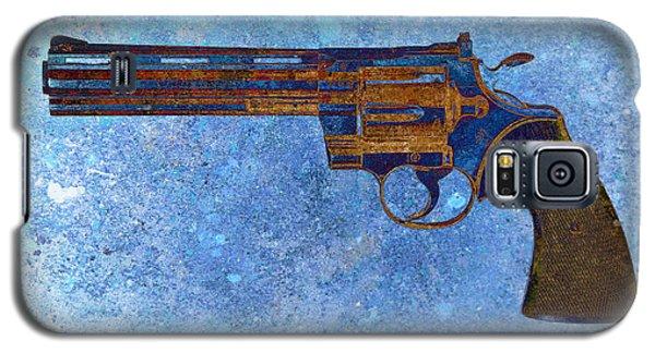 Colt Python 357 Mag On Blue Background. Galaxy S5 Case