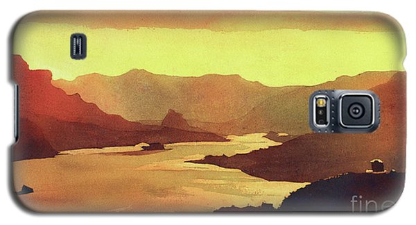 Galaxy S5 Case featuring the painting Columbia Gorge Scenery by Ryan Fox