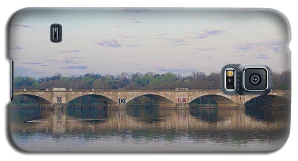 Galaxy S5 Case featuring the photograph Columbia Railroad Bridge - Philadelphia by Bill Cannon