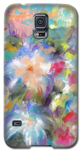 Galaxy S5 Case featuring the painting Columbine In The Wildflowers by Frances Marino
