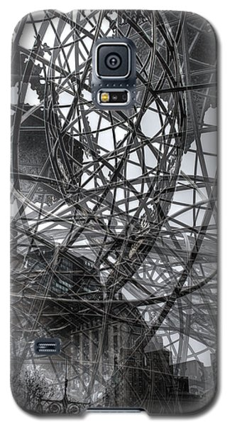Galaxy S5 Case featuring the photograph New York - Columbus Circle Globe -  Collage by Dave Beckerman
