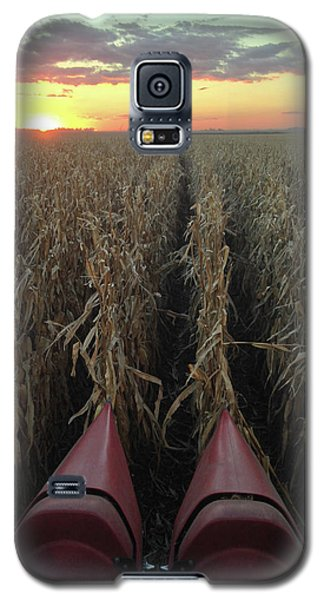 Galaxy S5 Case featuring the photograph Combine Sunset V by Dylan Punke