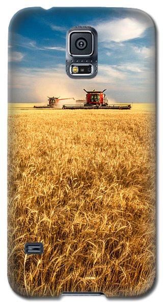 Combines Cutting Wheat Galaxy S5 Case