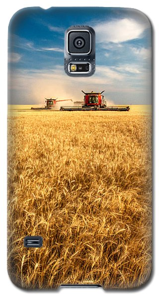 Combines Cutting Wheat Galaxy S5 Case