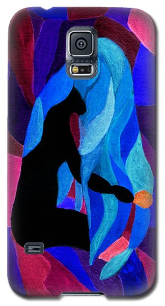 Combing The Waves Dark Galaxy S5 Case by Paula Ayers
