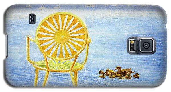 Galaxy S5 Case featuring the painting Come, Sit Here by Thomas Kuchenbecker