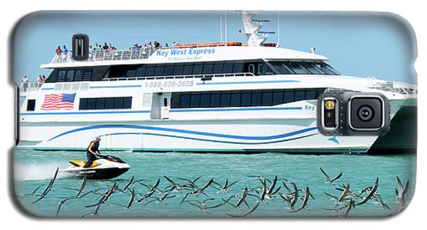 Galaxy S5 Case featuring the photograph Coming Into Port, Key West, Florida  -80237 by John Bald
