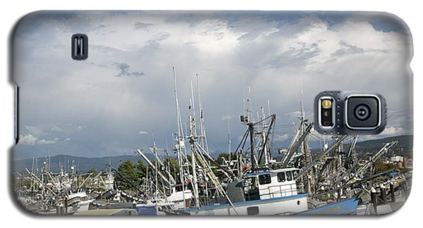 Galaxy S5 Case featuring the photograph Commerical Fishing Boats by Elvira Butler