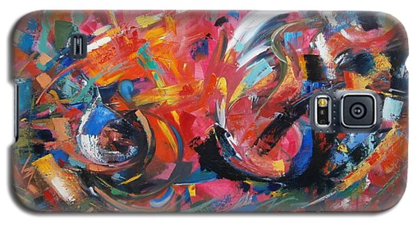 Galaxy S5 Case featuring the painting Committee Action by Gary Coleman