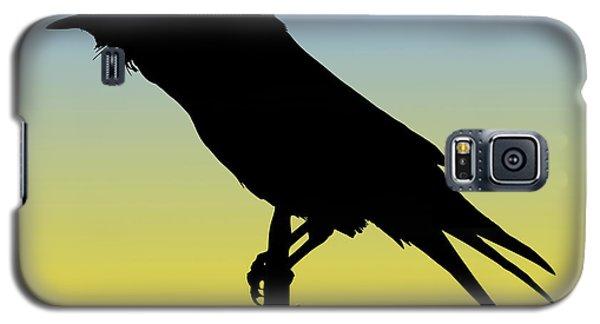 Common Raven Silhouette At Sunrise Galaxy S5 Case