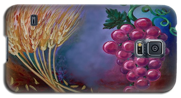 Galaxy S5 Case featuring the painting Communion by Kevin Middleton