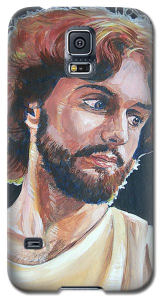 Galaxy S5 Case featuring the painting Compassionate Christ by Bryan Bustard