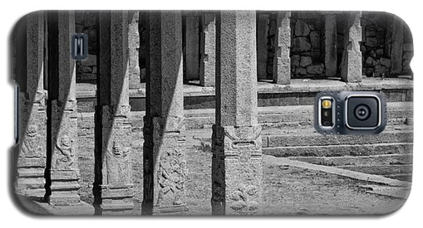 Galaxy S5 Case featuring the photograph Composition Of Pillars, Hampi, 2017 by Hitendra SINKAR