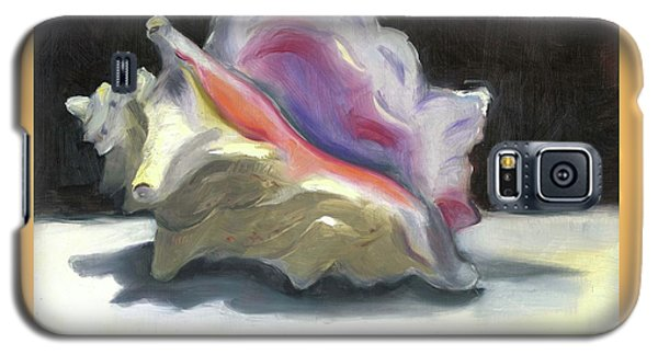 Galaxy S5 Case featuring the painting Conch Shell by Susan Thomas