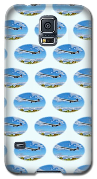 Galaxy S5 Case featuring the photograph Concorde On Finals - Tiled by Paul Gulliver