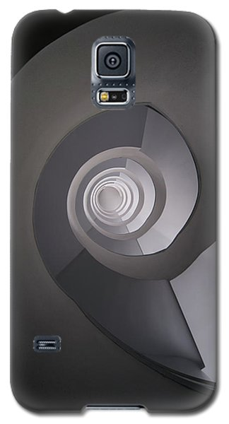 Galaxy S5 Case featuring the photograph Concrete Abstract Spiral Staircase by Jaroslaw Blaminsky