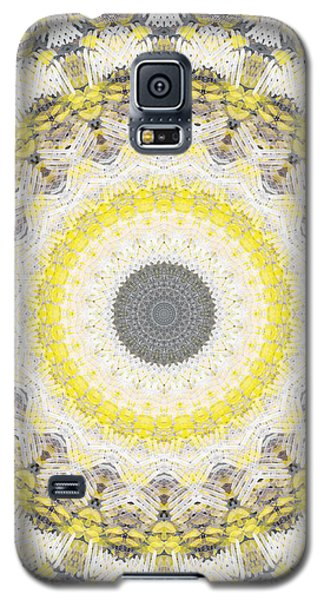 Concrete And Yellow Mandala- Abstract Art By Linda Woods Galaxy S5 Case by Linda Woods