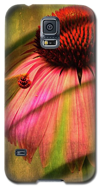 Cone Flower And The Ladybug Galaxy S5 Case