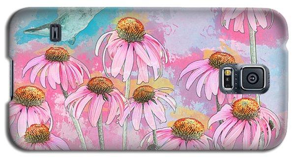 Coneflower Hummingbird Watercolor Galaxy S5 Case