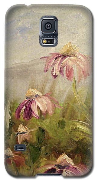 Galaxy S5 Case featuring the painting Coneflowers by Donna Tuten