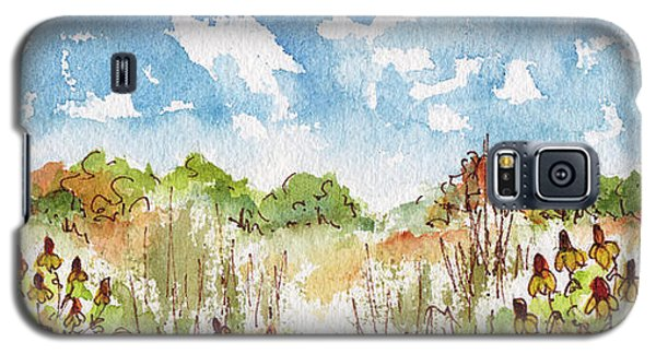 Galaxy S5 Case featuring the painting Coneflowers On The Prairie by Pat Katz