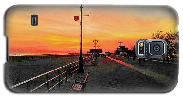Coney Island Boardwalk Sunset Galaxy S5 Case