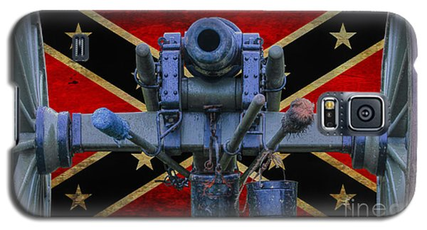 Confederate Flag And Cannon Galaxy S5 Case by Randy Steele