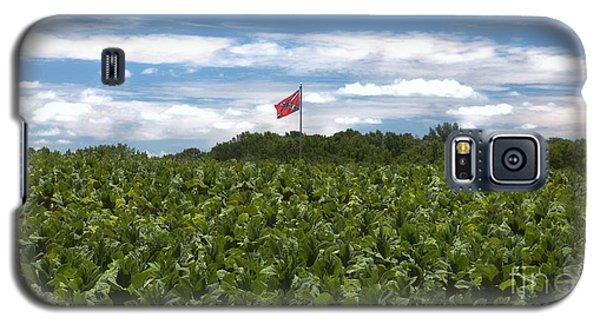 Confederate Flag In Tobacco Field Galaxy S5 Case by Benanne Stiens