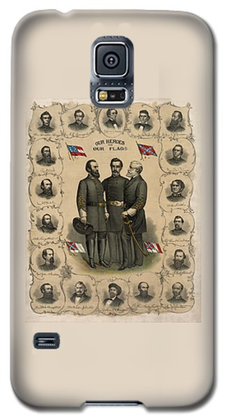Confederate Generals Of The Civil War Galaxy S5 Case by War Is Hell Store