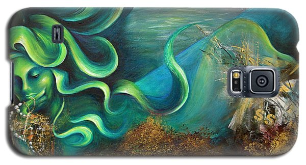 Galaxy S5 Case featuring the painting Confessions Of A Mermaid by Dina Dargo
