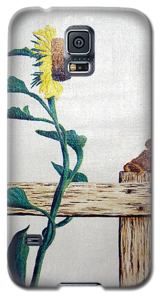 Galaxy S5 Case featuring the painting Confluence by A  Robert Malcom
