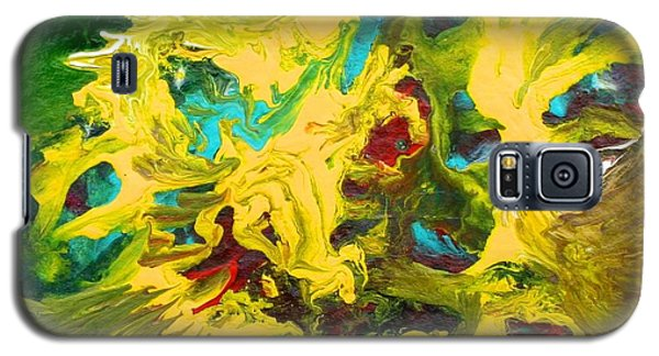 Galaxy S5 Case featuring the painting Confrontation by Polly Castor