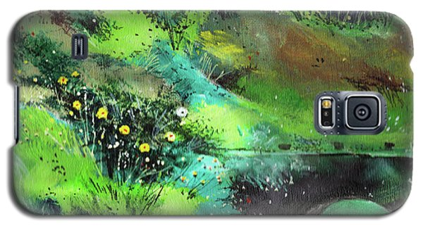 Galaxy S5 Case featuring the painting Connect by Anil Nene