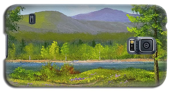 Galaxy S5 Case featuring the painting Connecticut River Spring by Frank Wilson