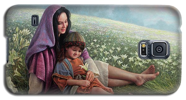 Galaxy S5 Case featuring the painting Consider The Lilies by Greg Olsen