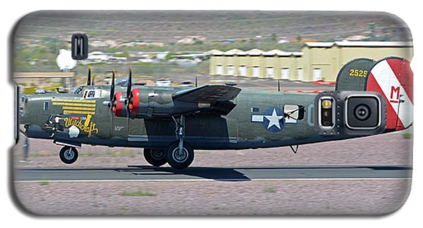 Galaxy S5 Case featuring the photograph Consolidated B-24j Liberator N224j Witchcraft Deer Valley Arizona April 13 2016 by Brian Lockett